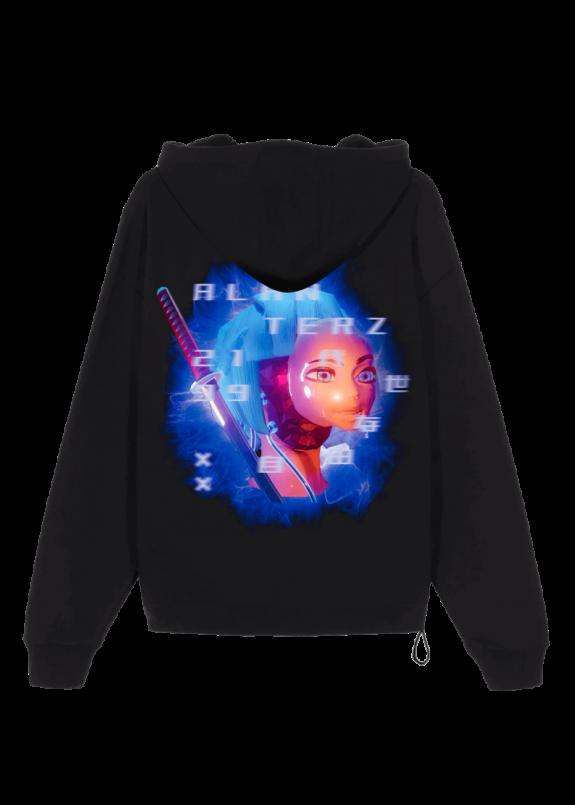 Изображение Худи Replicant Girl 1.0 Oversized Black Hood