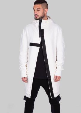 Изображение Кардиган белый  с черными матовыми вставками MFStore