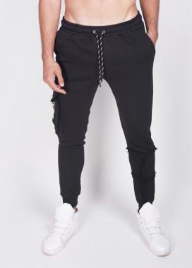 Изображение Зауженные штаны с затяжками со шлевкой Mfstore