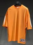 Изображение Футболка оранжевая с белыми вставками на рукавах MFStore