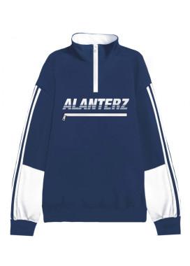 Изображение Кофта синяя мужская Basic 1/4 Zip Reflective Oversized Black Sweatshirt