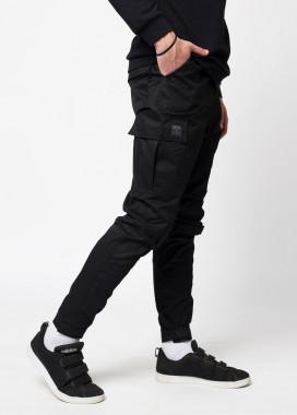 Изображение Зауженные карго штаны черные  Симбиот Tur streetwear