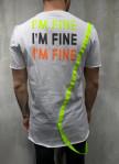 Изображение Футболка белая i'm fine MFStore
