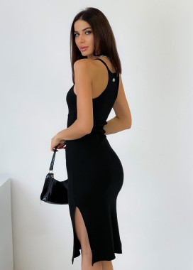 Изображение Удлиненное платье рубчик