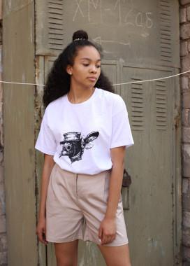 Изображение Шорты женские бежевые Kathreen Tur streetwear