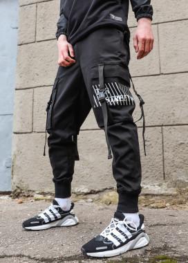 Изображение Мужские штаны черные Ёсида