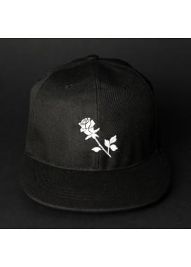 Изображение Снепбек мужской с вышивкой Роза черный Black Limit