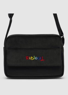 Изображение Прямоугольная сумка через плечо мессенджер черного цвета