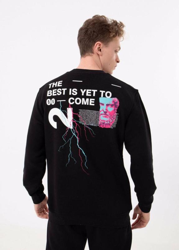 Изображение Кофта мужская с текстом на спине и груди MFStore