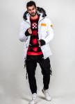 Изображение Куртка с мехом на капюшоне и логотип на рукаве MFStore