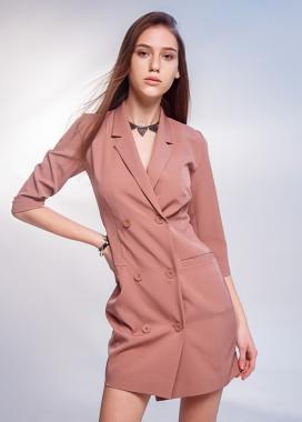 Изображение Платье-пиджак на пуговицах