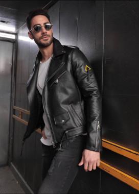 Изображение Куртка кож зам без принта MFStore