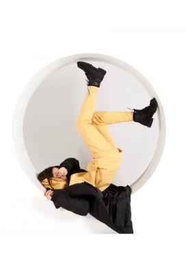Изображение Штаны женские на флисе желтые