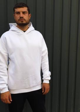 Изображение Белая толстовка с капюшоном
