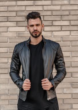 Изображение Куртка с декоративными строчками на плечах Mfstore
