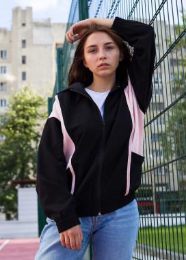 Изображение Ветровка черная женская Харли Квин Tur streetwear