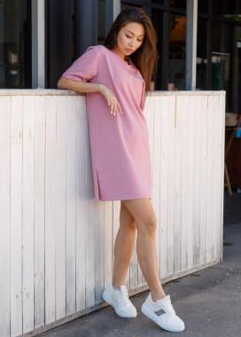 Изображение Платье-футболка женское розовое Сарина