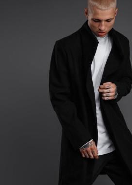 Изображение Пальто мужское - черное