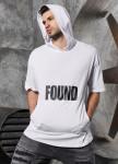 Изображение Футболка с капюшоном FOUND белая MFStore
