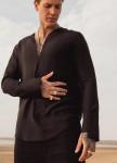 Изображение Мужская черная  дизайнерская рубашка