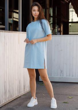Изображение Платье-футболка женское голубое Сарина