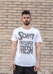 Изображение Футболка белая sorry I'm super fresh Mfstore