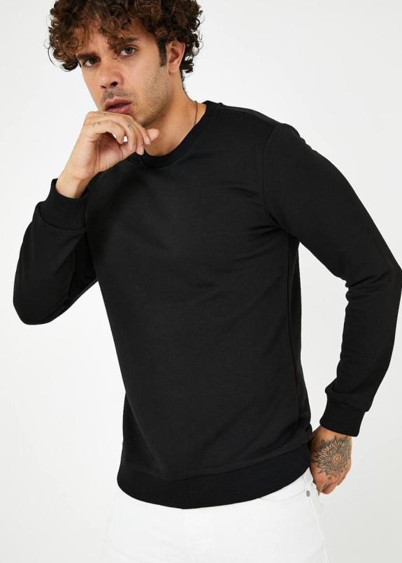 Изображение Кофта мужская базовая черная MFStore