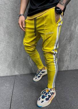 Изображение Джоггеры желтые с полосками по бокам MFStore