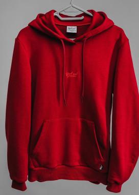 Изображение Красное женское  худи с классическим лого