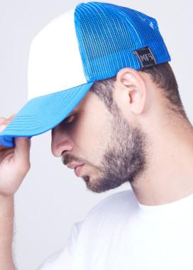 Изображение Кепка мужская сетка бело-синяя MFS