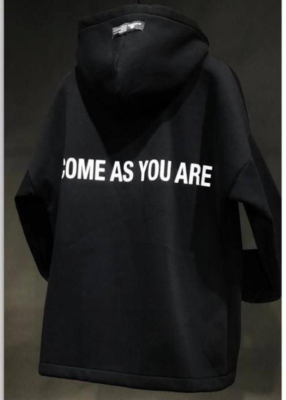 Изображение Худи come as you are черное MFStore
