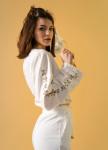 Изображение Женский костюм белый с завязками