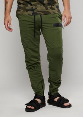 Изображение Мужские зеленые спортивные штаны на манжетах ThePARA