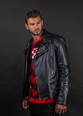 Изображение Куртка мужская кож зам с затяжками MFStore