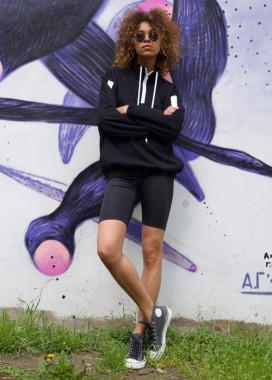 Изображение Велосипедки женские черные Джин Tur streetwear