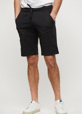 Изображение Мужские шорты черного цвета длиной до колена