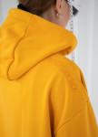 Изображение Худи желтое oversize с двумя молниями