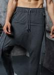Изображение Штаны галифе со шлейками серые MFStore