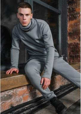 Изображение Штаны мужские на флисе серые