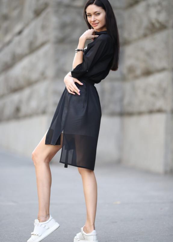 Изображение Платье-рубашка шифоновая