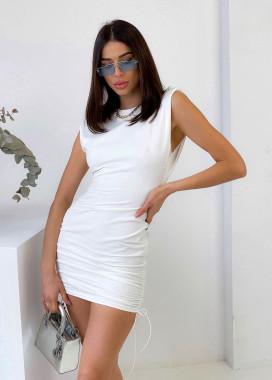 Изображение Платье белое с плечиками