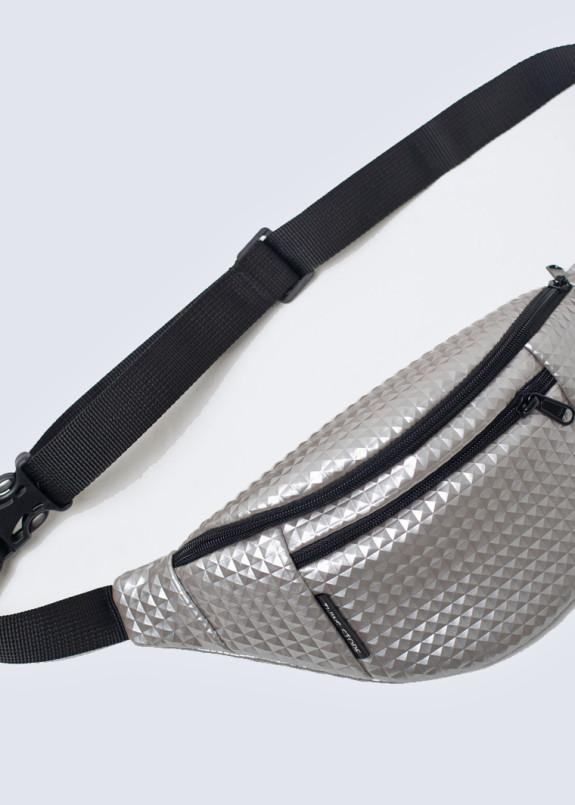 Изображение Серебряная кожаная поясная сумка relief twins store