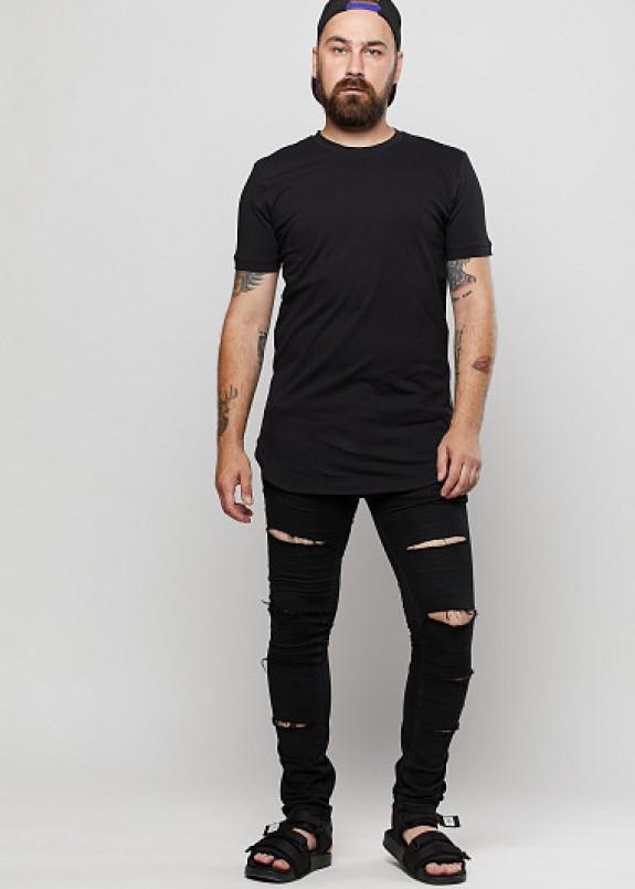 Изображение Мужская удлинённая футболка с молниями по бокам ThePARA