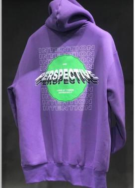 Изображение Худи оверсайз фиолет с принтом на спине и груди MFStore