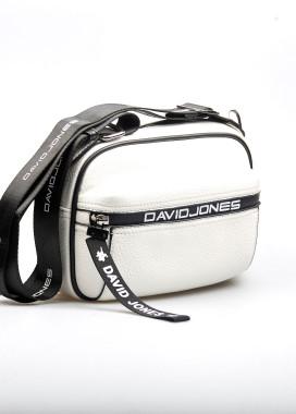 Изображение Белая сумка с черными вставками David Jones