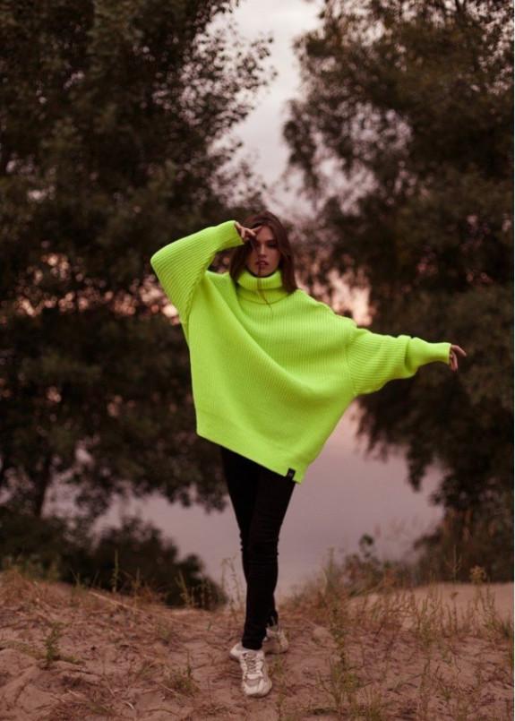 Изображение Свитер женский OVERSIZE NEON - лимонный