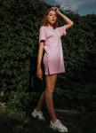 Изображение Платье-футболка розовое  Street style