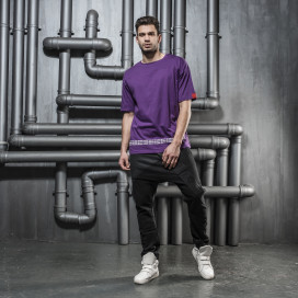 Изображение Футболка фиолетовая с текстом Mfstore
