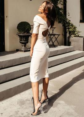 Изображение Платье бежевое с открытой спиной Simplu
