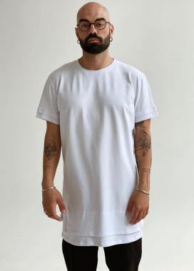 Изображение Удлиненная белая футболка MIKO